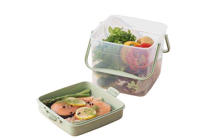 容器にもなるBOX。蓋をお皿としての使用も可能!