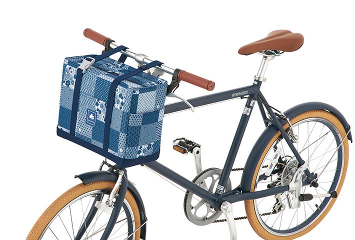 自転車のハンドルに