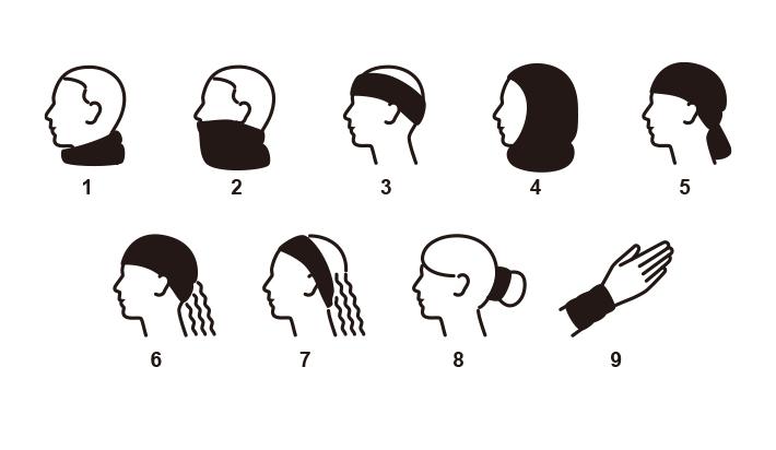 飛沫対策にもなる、のびのびチューブ型マスク。使い方9通り!
