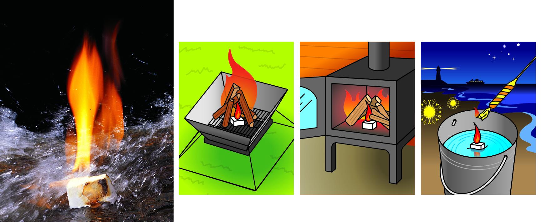 水に強い一発着火の防水着火剤!