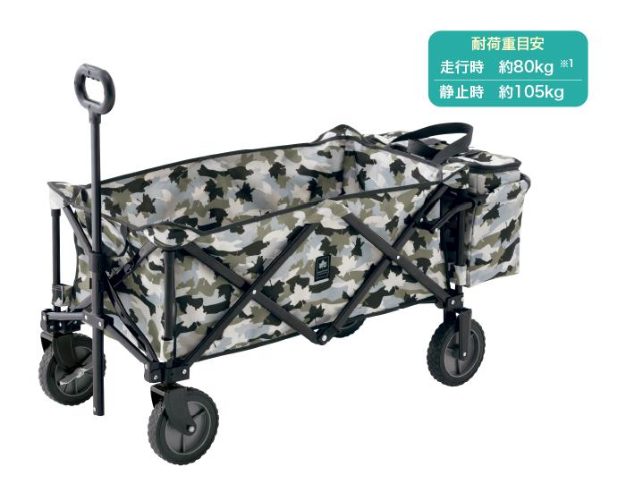 大容量キャリーにクーラーバッグを標準装備 重い荷物がけでなく、冷たい食料品もラクラク運べる!