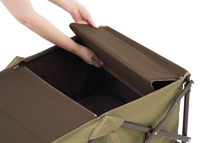 荷台のカバー部分は、収納可能。