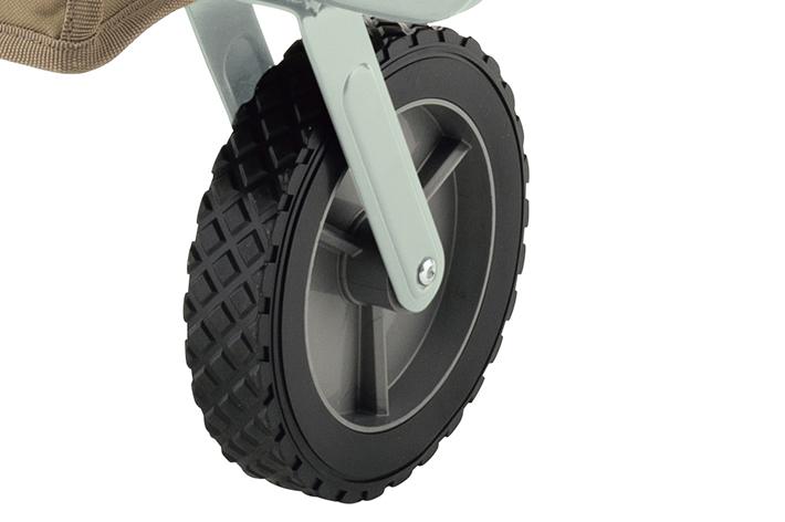 地面をとらえるひし形ブロックタイヤ