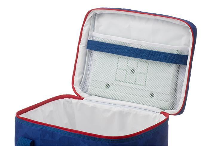 10mm厚の断熱材を使用し優れた保冷力を実現したソフトクーラー