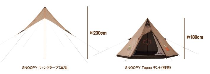 SNOOPY Tepeeテントと相性抜群
