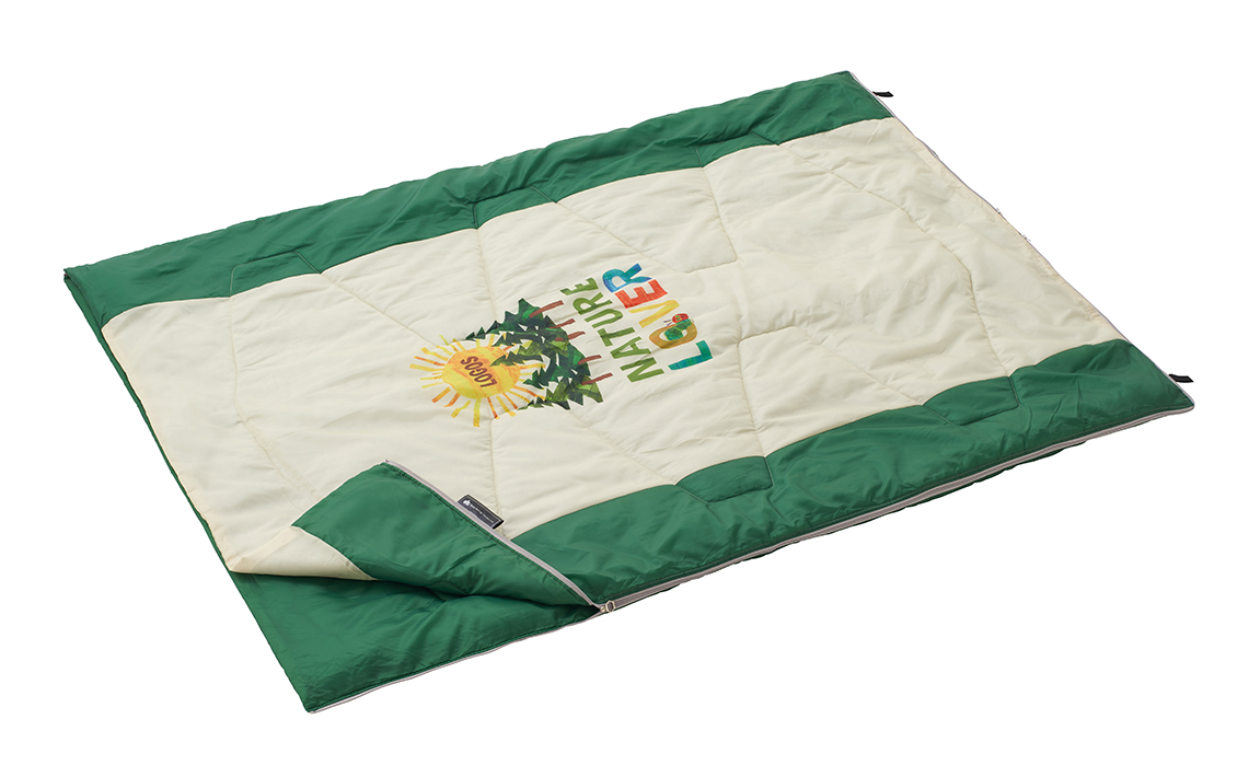 子供と一緒に寝られる 広々サイズの寝袋